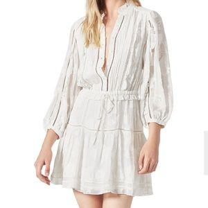 NWT Joie Abel B white long sleeved dress